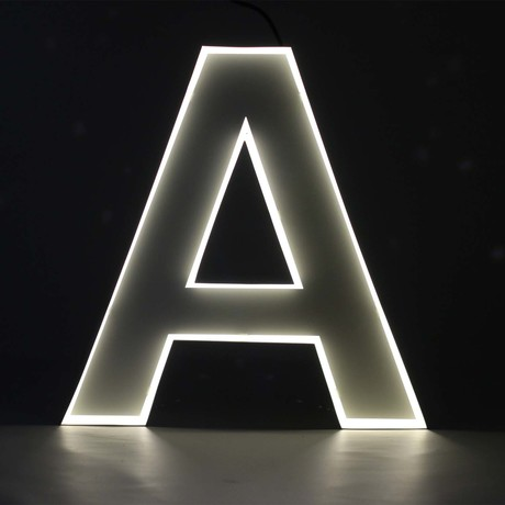 "Quizzy Neon Style Letter ""A"""