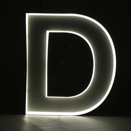 "Quizzy Neon Style Letter ""D"""