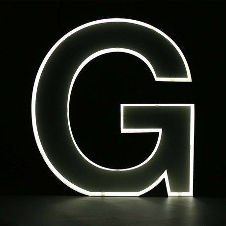 "Quizzy Neon Style Letter ""G"""