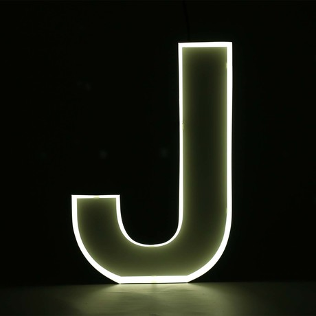 "Quizzy Neon Style Letter ""J"""