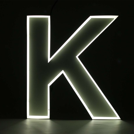 "Quizzy Neon Style Letter ""K"""