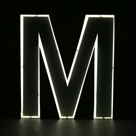 "Quizzy Neon Style Letter ""M"""