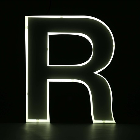 "Quizzy Neon Style Letter ""R"""
