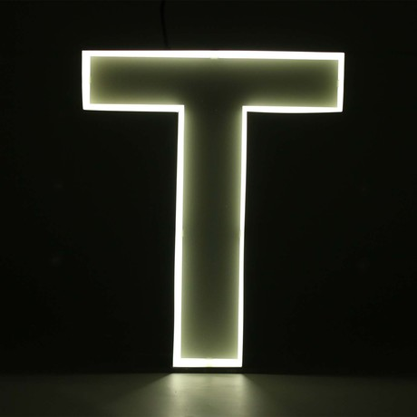 "Quizzy Neon Style Letter ""T"""
