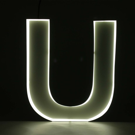 "Quizzy Neon Style Letter ""U"""