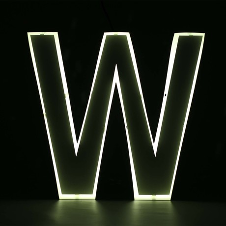 "Quizzy Neon Style Letter ""W"""