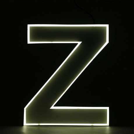 "Quizzy Neon Style Letter ""Z"""