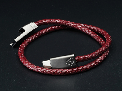 Photo of NOUON Wearable Keblar Charging Cables NILS Duo // Bordeaux Red // Micro USB (S) by Touch Of Modern