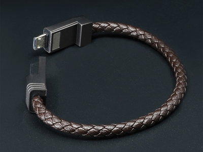 Photo of NOUON Wearable Keblar Charging Cables NILS Solo // Dark Chocolate // Micro USB (XS) by Touch Of Modern