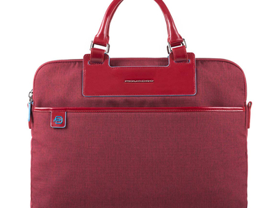 Photo of Piquadro Professional Luggage & Bags 2-Folder Zipped Compartment Briefcase // Red by Touch Of Modern