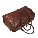 Monte Cristo // Leather Duffel Bag // Brown