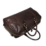 Monte Cristo // Leather Duffel Bag // Dark Brown