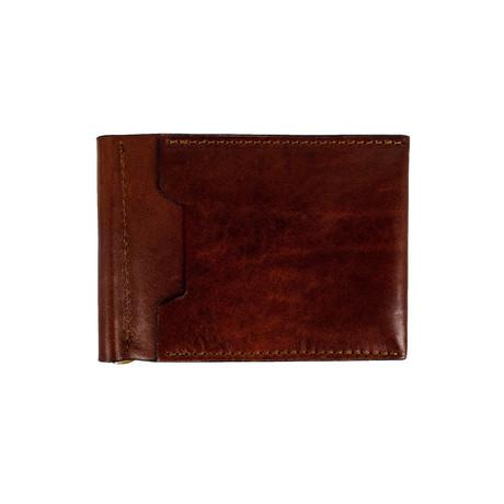 Tom Jones Leather Money Clip Wallet // Dark Brown