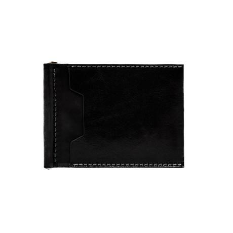 Tom Jones Leather Money Clip Wallet // Black