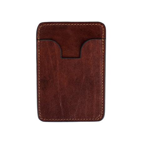 1984 // Leather Card Case // Dark Brown