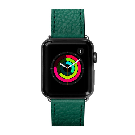 Milano Watch Strap // Emerald (38-40mm)