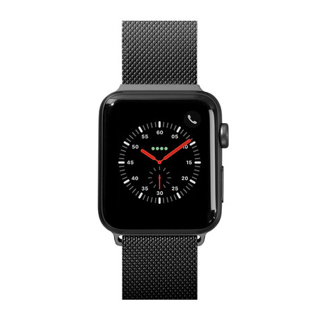 Steel Loop Watch Strap // Black (38-40mm)
