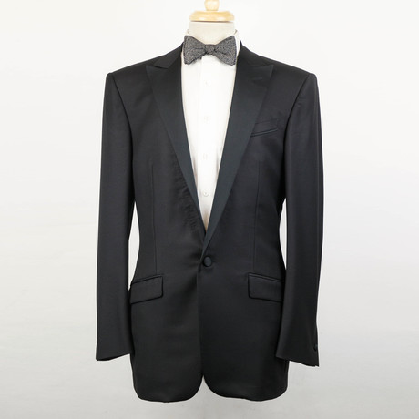 Versace // Wool Tuxedo Sport Coat V2 // Black (Euro: 48)