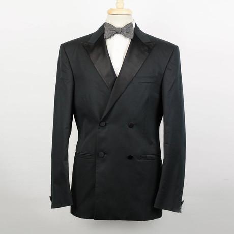 Versace // Wool Db Tuxedo Sport Coat // Black (Euro: 48)