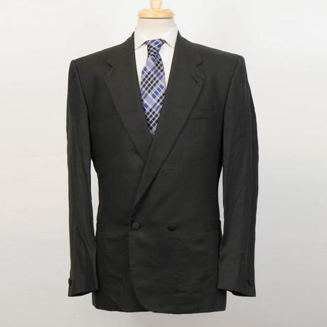 Versace // Wool Db Tuxedo Suit // Black (Euro: 48)