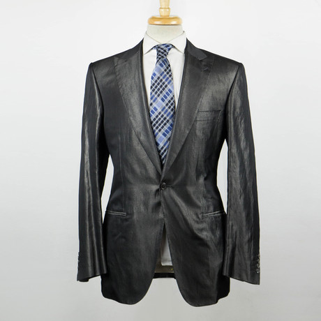 Brioni // Pallavicin Silk Blend Peak Lapels Tuxedo Suit // Gray (Euro: 48)