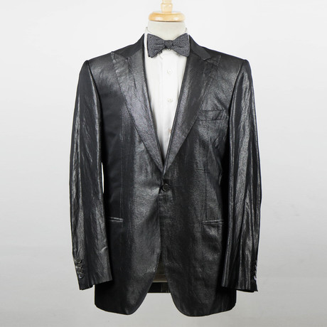 Brioni // Pallavicin Silk Blend Tuxedo Sport Coat // Gray (Euro: 48)