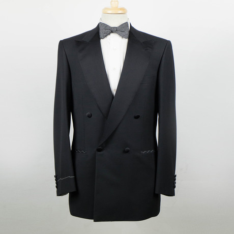 Brioni // Mercadante Wool Double Breasted Tuxedo Suit // Black (Euro: 48)