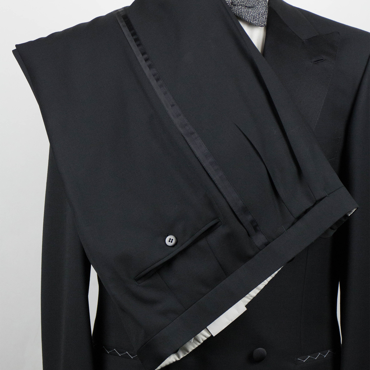 Brioni Mercadante Black Wool Double Breasted Tuxedo Jacket And Pants Size 48 Clothing, Shoes & Accessories