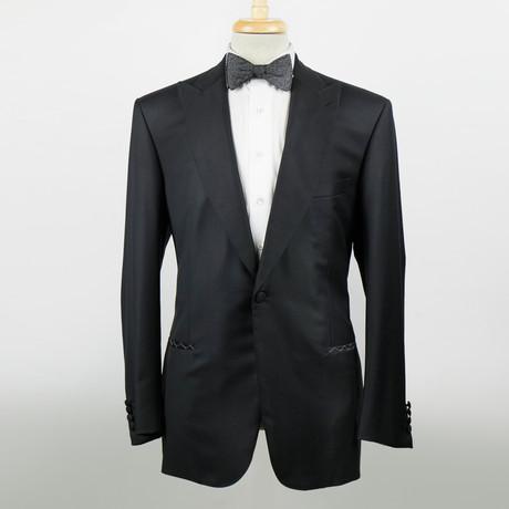 Brioni // Flaiano Wool Peak Lapels Tuxedo Suit // Black (Euro: 48)
