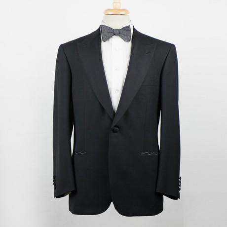 Brioni // Quirinale Wool Peak Lapels Tuxedo Suit // Black (Euro: 48)