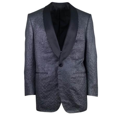 D'Avenza // Silk Satin Trim Tuxedo Dinner Jacket // Black (Euro: 48)