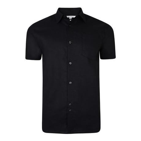 Belem Textured Short-Sleeve // Black (S)