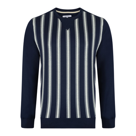 Gretsky Striped Sweatshirt // Navy (XS)