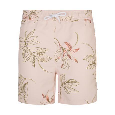 Turek Floral Print Swim Shorts // Pink (S)
