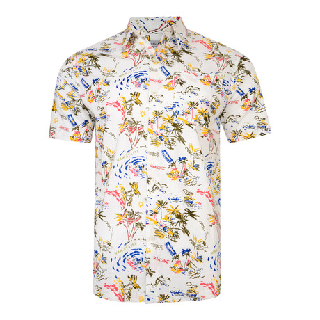 Valensi Hawaiian Short-Sleeve Shirt // White (XL)