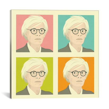 "Warhol // Jazzberry Blue (18""W x 18""H x 0.75""D)"