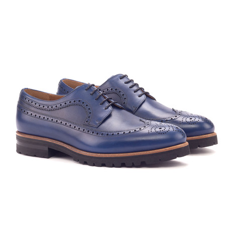 Long Wingtip Blucher // Navy (US: 6)