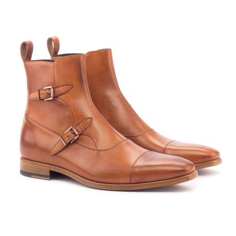 Octavian Buckle Boot // Cognac (US: 6)