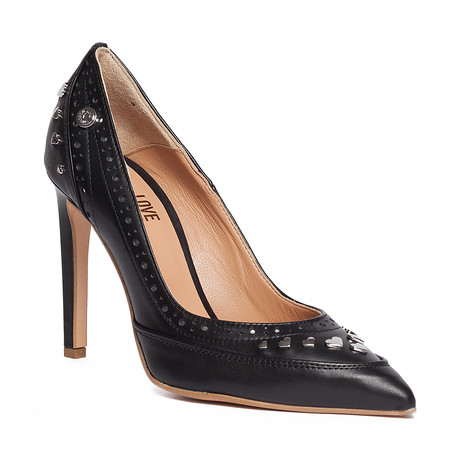 Love Moschino // Hearted Studded Heel // Black (IT: 38)