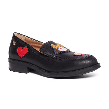 Ketsby Leather Slip-On // Black (IT: 35)