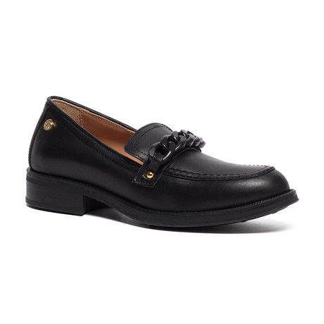 Ketsby Classic Leather Slip-On // Black + Black (IT: 35)