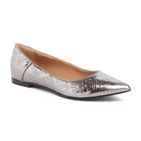 Embossed Ballerina Flat // Pewter (IT: 35)