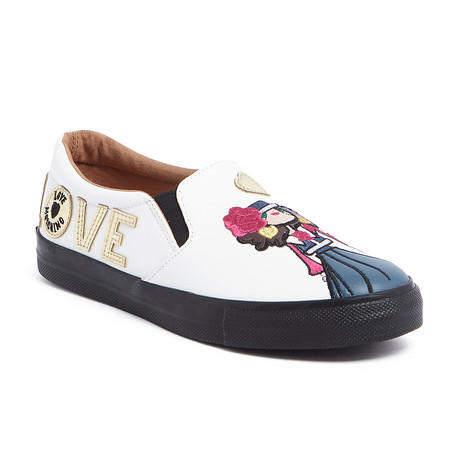 Love Moschino // Leather Slip-On Love Sneaker // White (IT: 35)