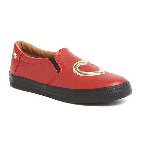 Leather Heart Slip-On // Red (IT: 36)