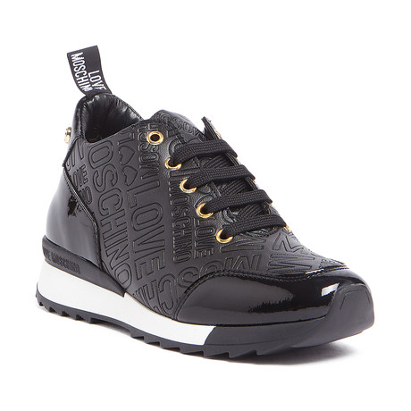 High-Top Embossed Logo Sneaker // Black (IT: 36)