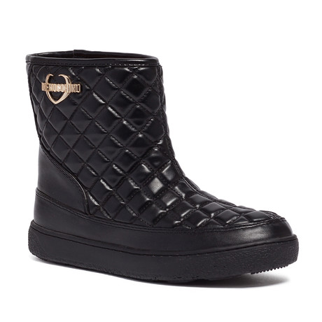 Quilted Leather Boot // Black (IT: 35)