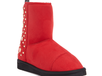 Photo of Love Moschino Designer Women's Shoes Suede Ankle Boot // Red (IT: 35) by Touch Of Modern