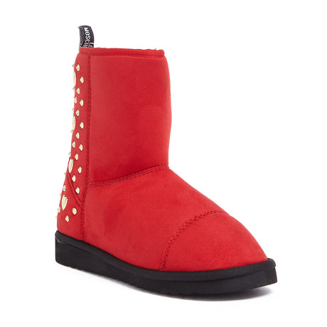 Suede Ankle Boot // Red (IT: 35)
