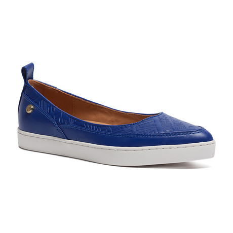 Embossed Logo Slip-On // Blue (IT: 35)