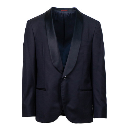 Brunello Cucinelli // Shawl One Button Tuxedo Suit // Navy Blue (Euro: 48)